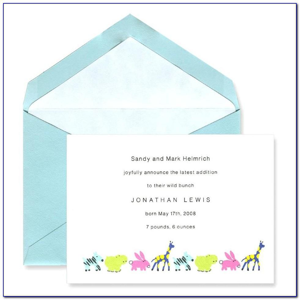 Crane And Co Birth Announcements