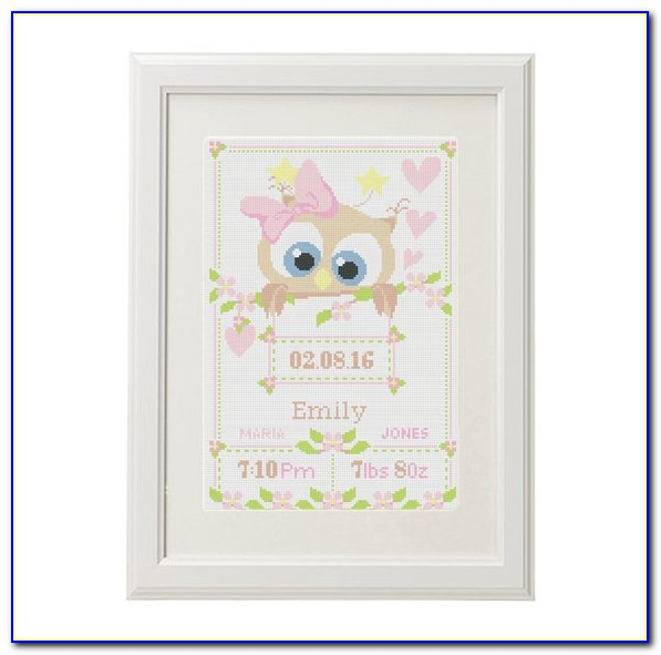 Cross Stitch Baby Announcement Free Patterns