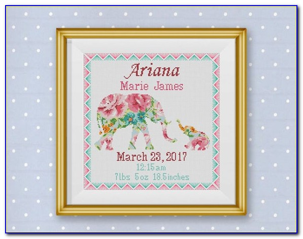 Cross Stitch Birth Announcement Patterns Free