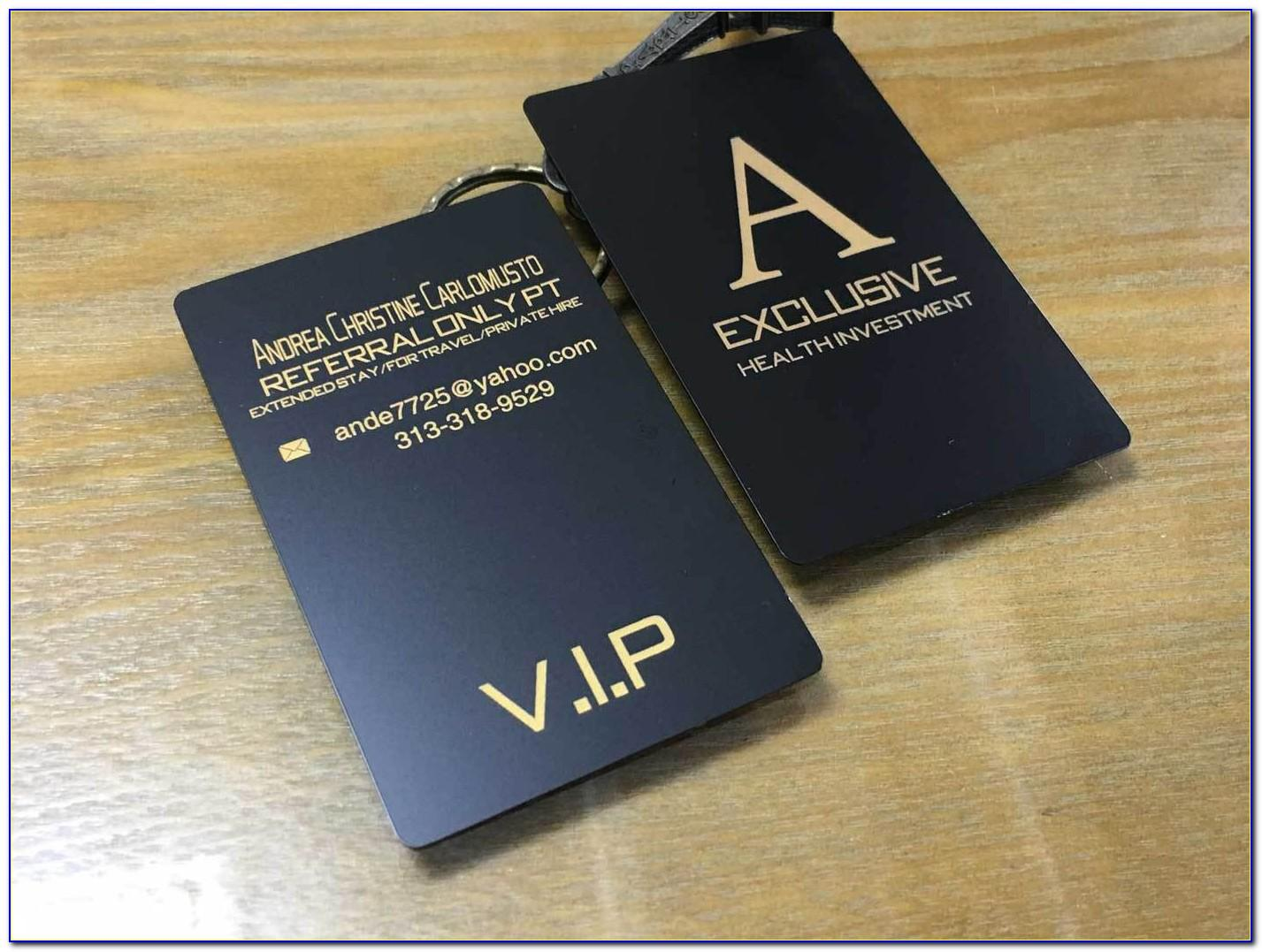 Custom Matte Black Business Cards