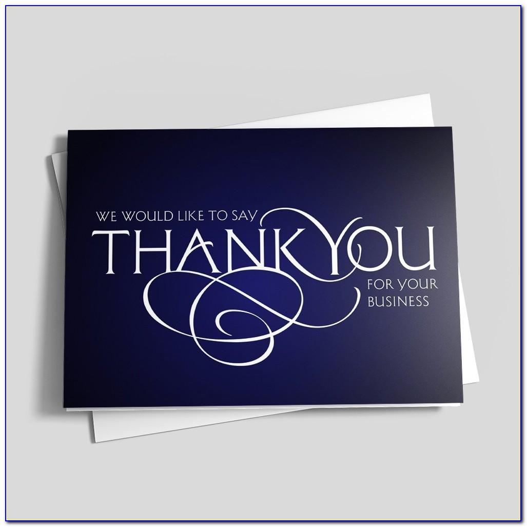 Custom Thank You Cards With Business Card Slot
