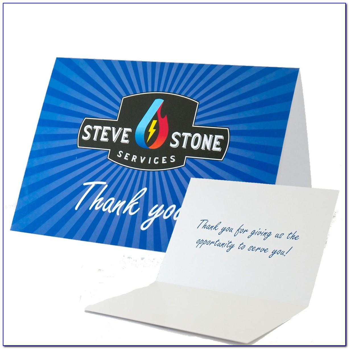 Custom Thank You For Your Business Cards