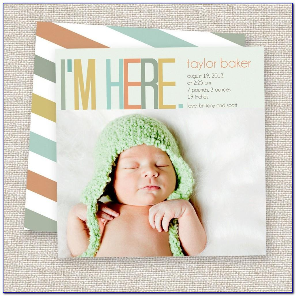 Cute Baby Arrival Announcements