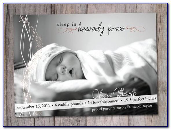 Cute Baby Boy Birth Announcements