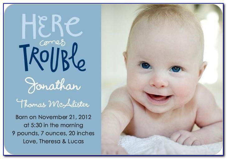 Cute Facebook Baby Birth Announcements