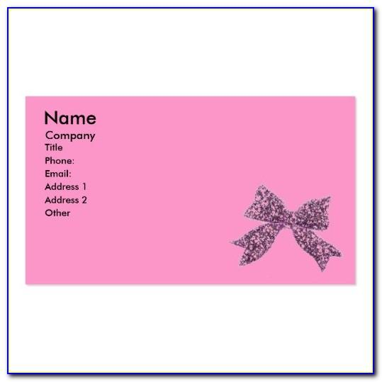 Cute Girly Business Cards