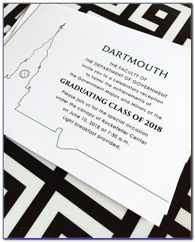 Dartmouth Coop Graduation Announcements