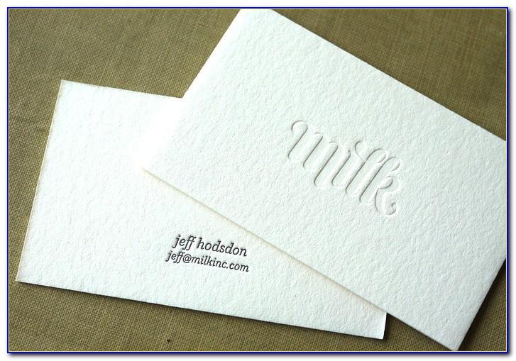 Debossed Business Cards Canada