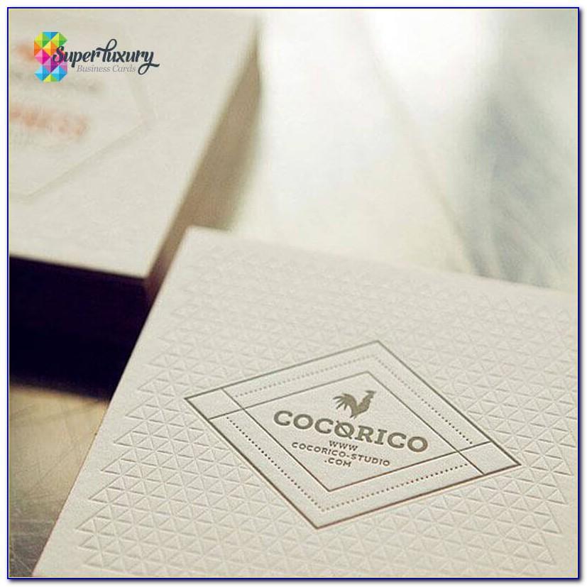 Debossed Business Cards Uk