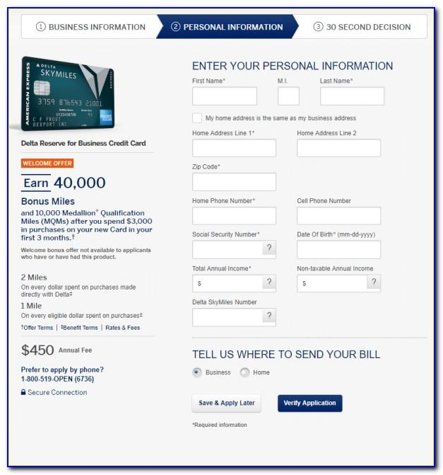 Delta Skymiles Business Card 50000