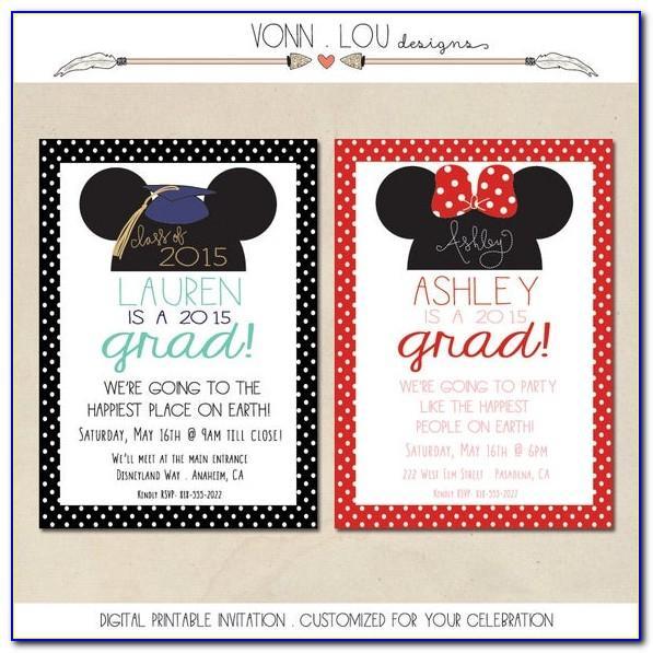 Disney Graduation Invitation