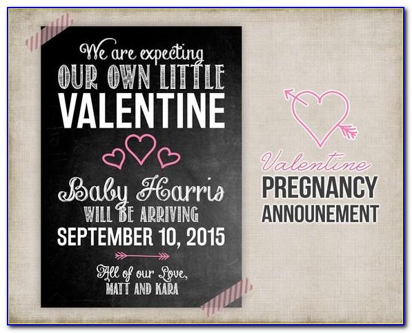 Downloadable Pregnancy Announcement Template