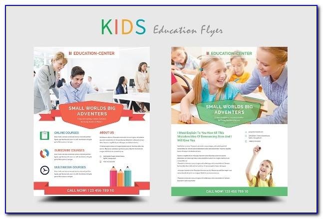 Education And Training Brochure Templates