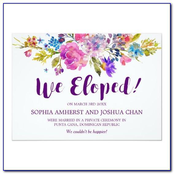 Elopement Wedding Announcement Cards