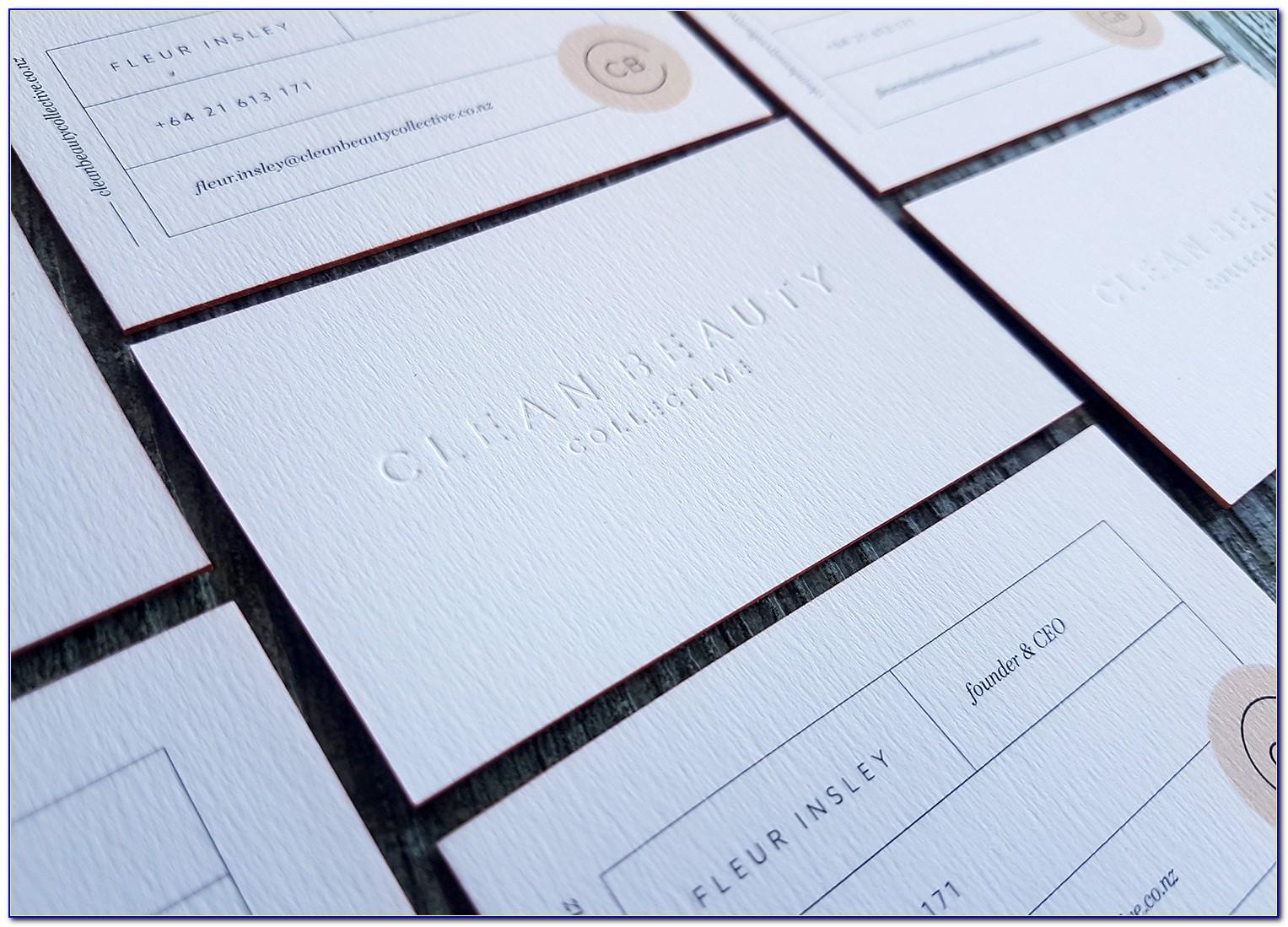 Embossed Foil Business Cards