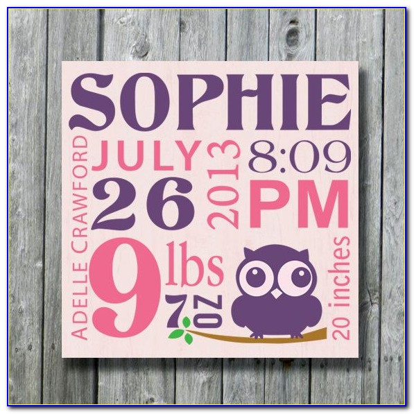 Etsy Birth Announcement Sign