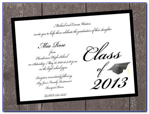 Etsy Graduation Announcement Templates