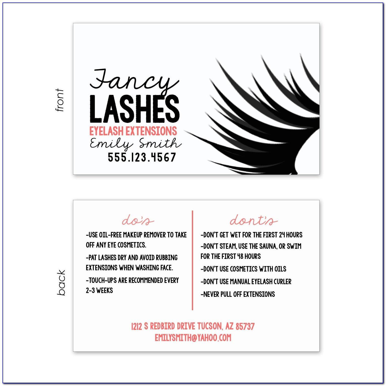 Eyelash Extension Business Card Design