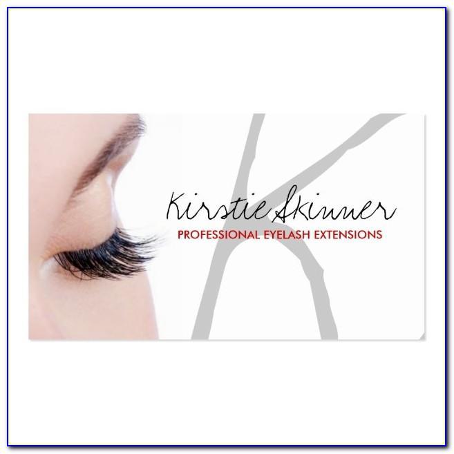 Eyelash Extension Business Card Ideas