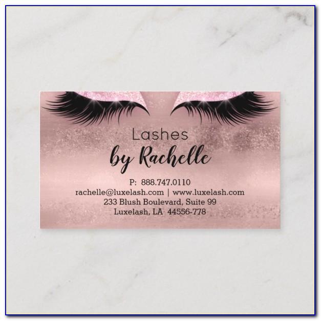 Eyelash Tech Business Cards