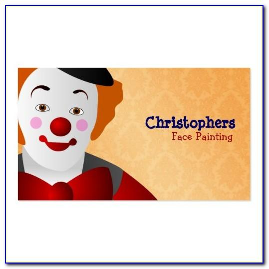 Face Painting Business Cards Design