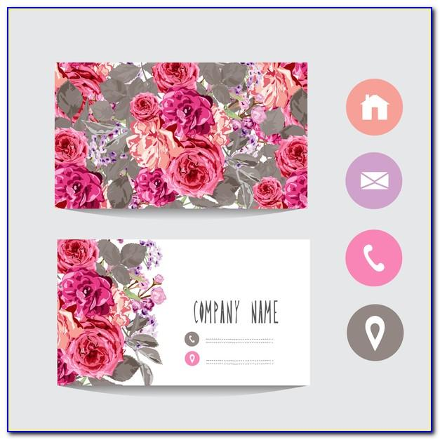 Floral Business Card Template Free Download