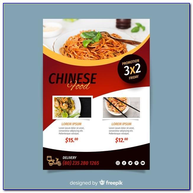 Food Brochure Template Cdr