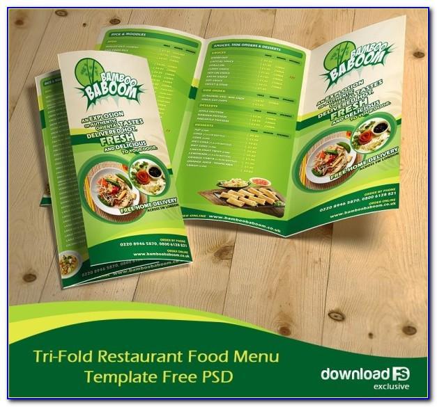 Food Brochure Template Word