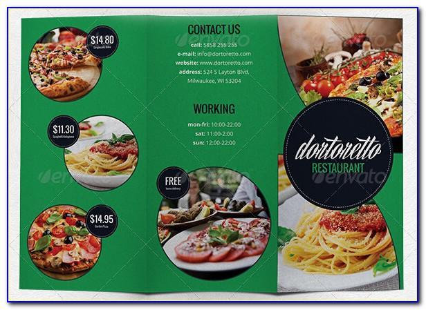 Food Brochure Templates Illustrator