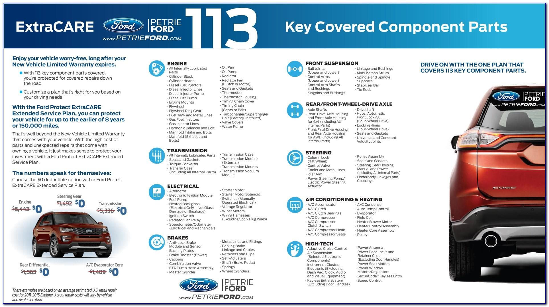 Ford Limited Maintenance Plan Brochure