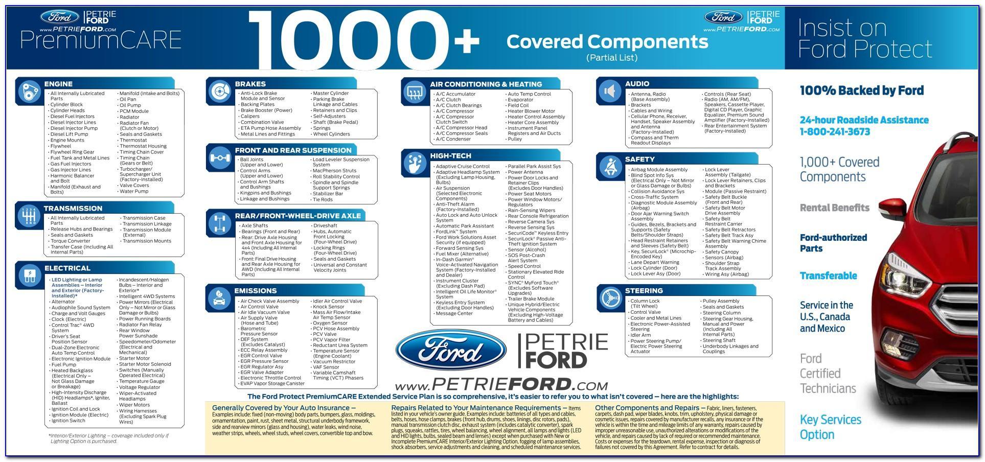 Ford Maintenance Plan Brochure
