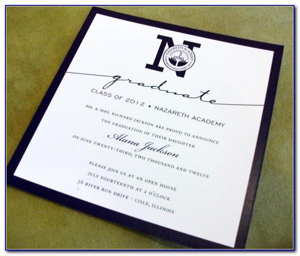 Formal Graduation Announcement Wording Sample