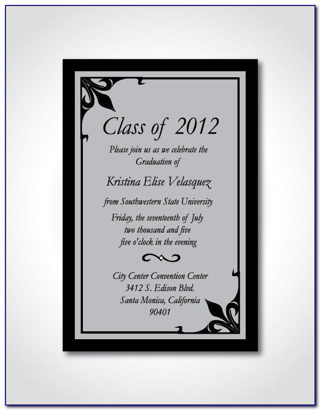 Formal Graduation Announcement Wording