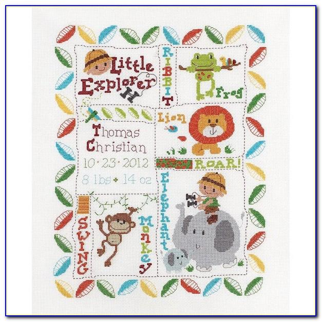 Free Counted Cross Stitch Birth Announcement Patterns