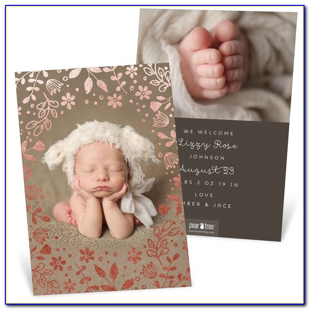 Free Diy Birth Announcement Templates