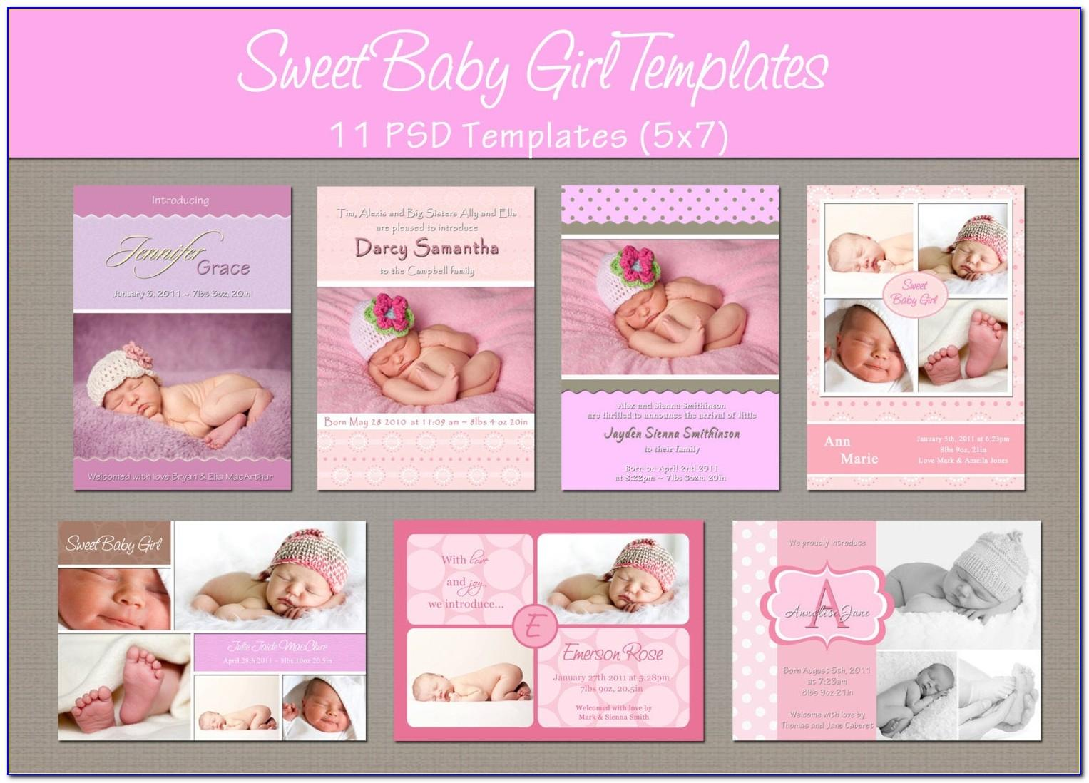 Free Download Birth Announcement Templates