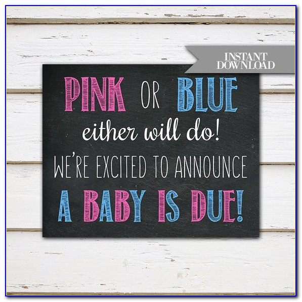 Free Downloadable Pregnancy Announcements