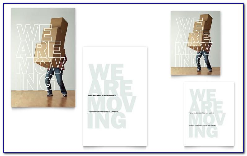 Free Moving House Announcement Template