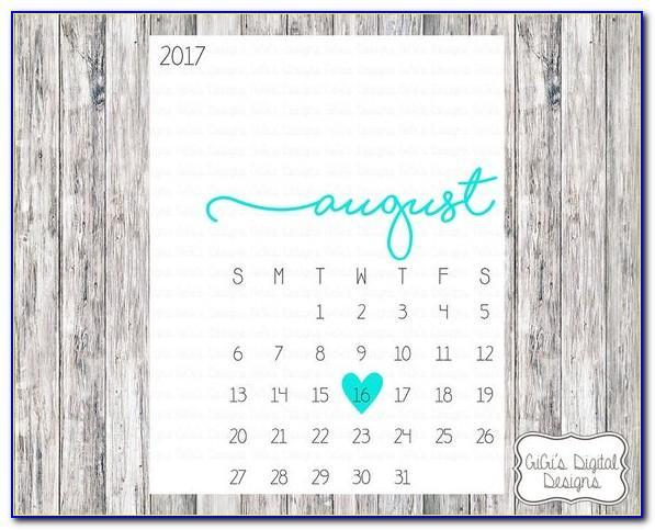 Free Printable Pregnancy Announcement Calendar June 2020