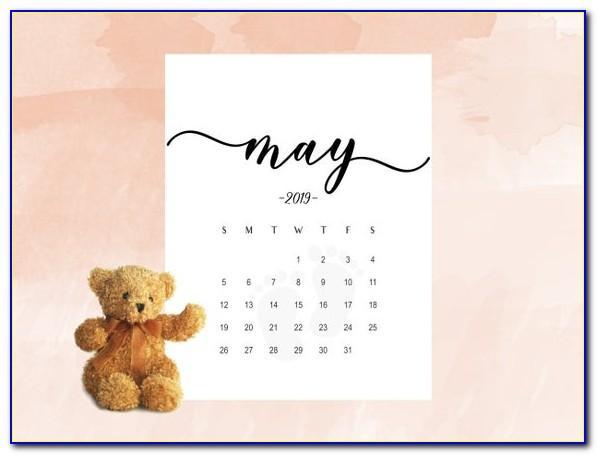 Free Printable Pregnancy Announcement Calendar