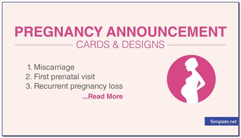 Free Social Media Pregnancy Announcement Template