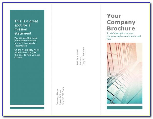 Free Tri Fold Brochures Templates Microsoft Word