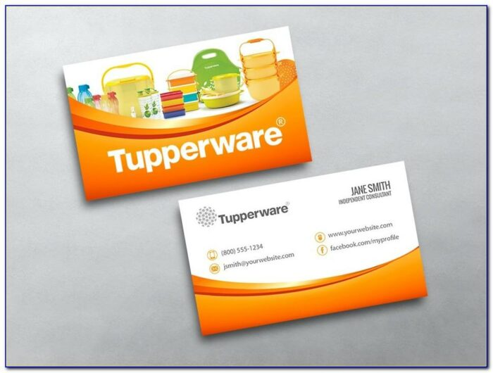 Free Tupperware Business Cards Template