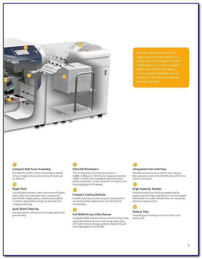 Fuji Xerox Versant 2100 Brochure