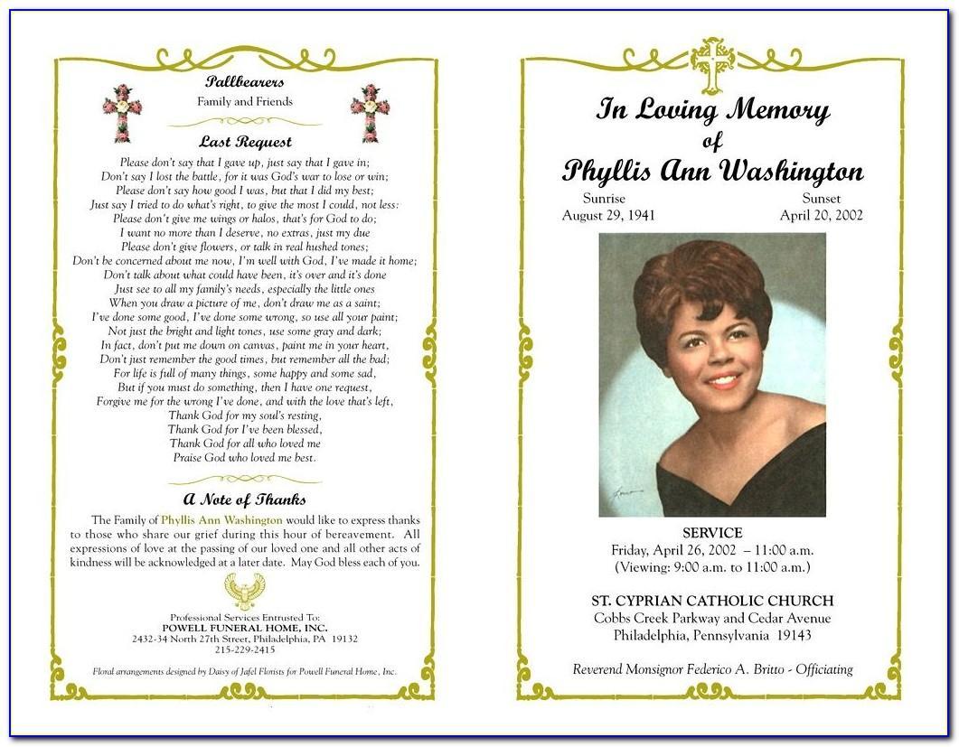 Funeral Brochure Sample