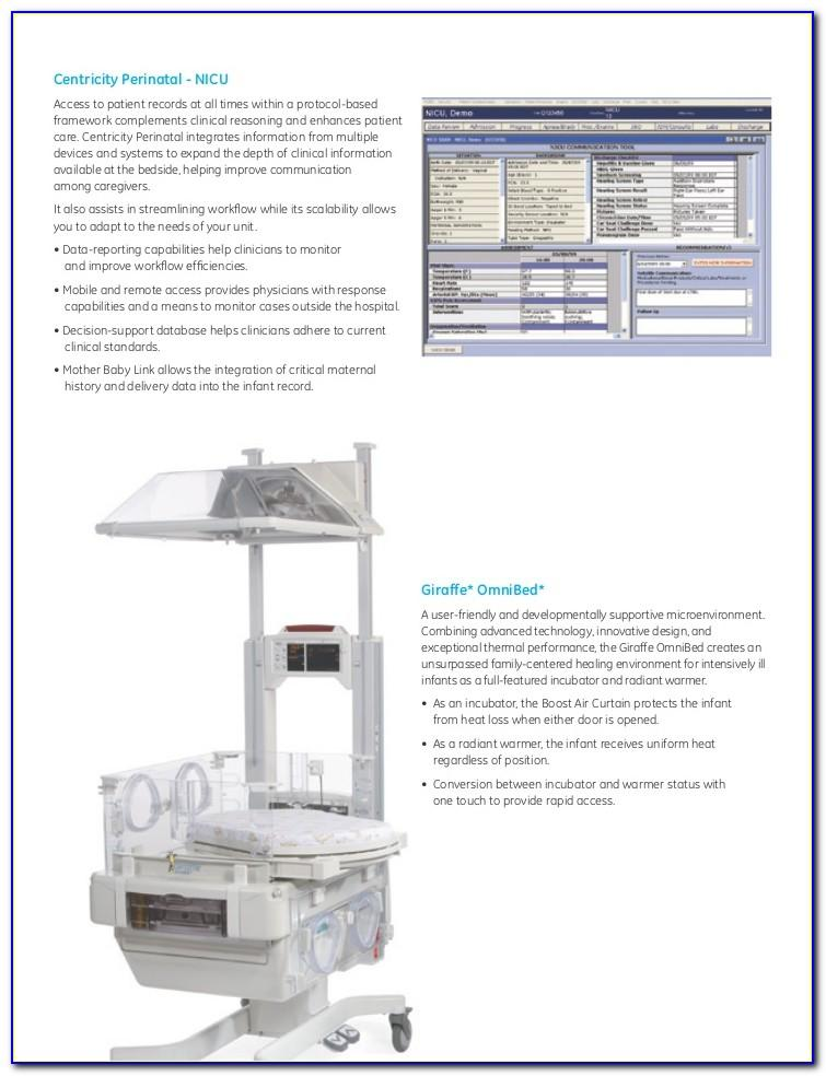 Giraffe Incubator Carestation Brochure