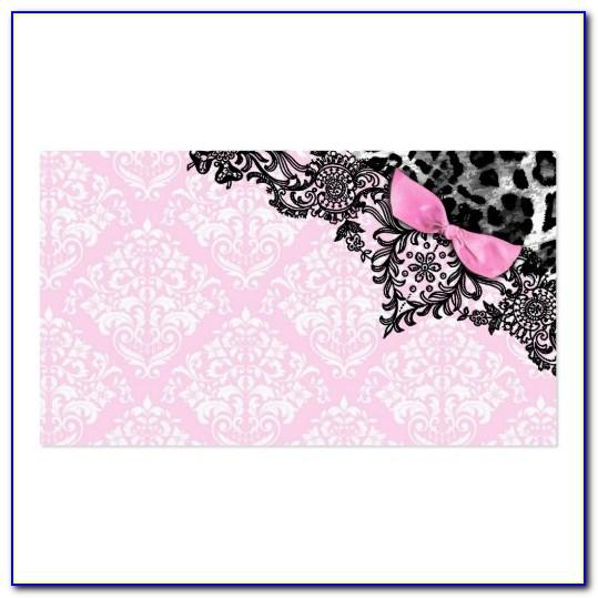 Girly Business Card Design