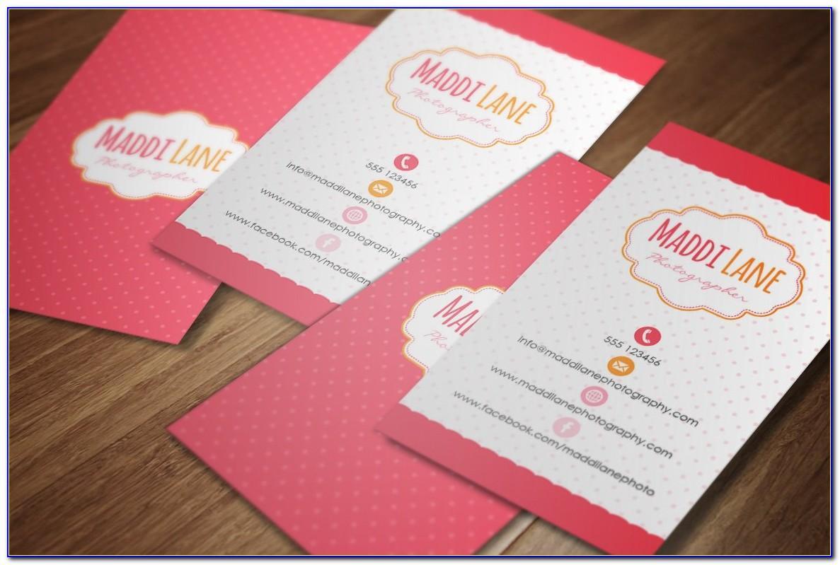 Girly Business Card Holder For Desk