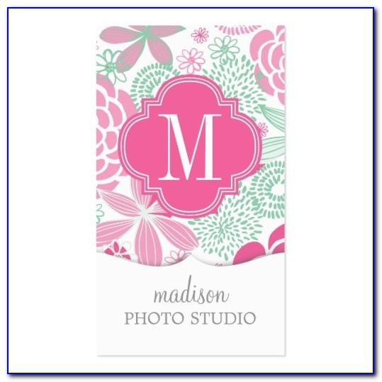 Girly Business Card Template Free Download