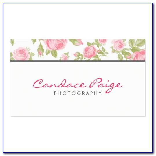 Girly Business Card Vector